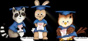 Edgar Graduates image - Graduation Friends holding diplomas